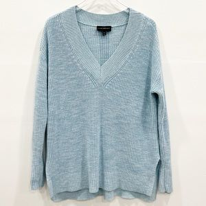 Lane Bryant V-Neck Cable Ribbed Knit Sweater 14/16